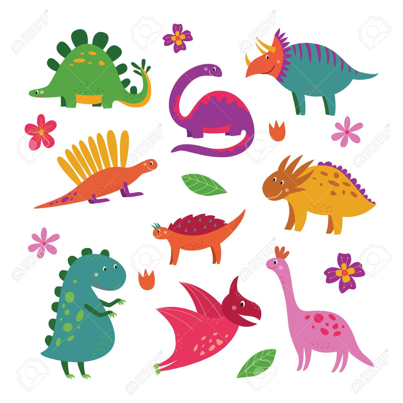 Cute dinosaur collection