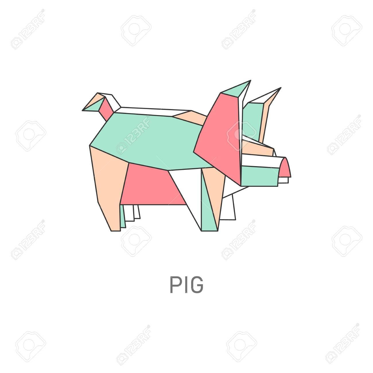 Origami Cute Pig | 1300x1300