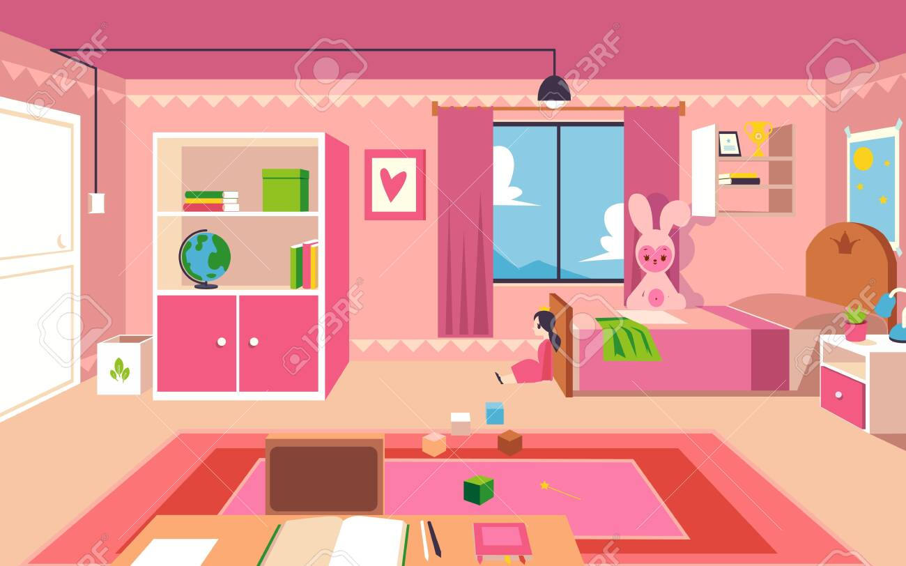 Little Girl Bedroom Interior Design Of A Kid Room With Pink