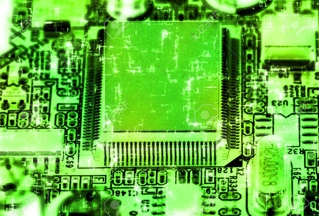 Close-up studio shot of the modern computer chip. Stock Photo - 4996805