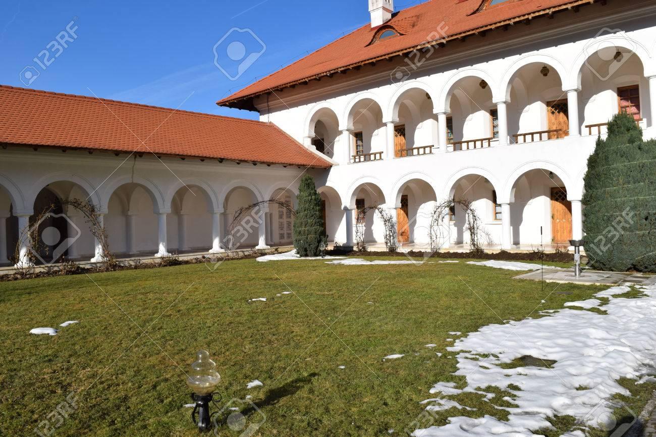 Building in Sambata de Sus monastery complex in Romania. Stock Photo - 52515835