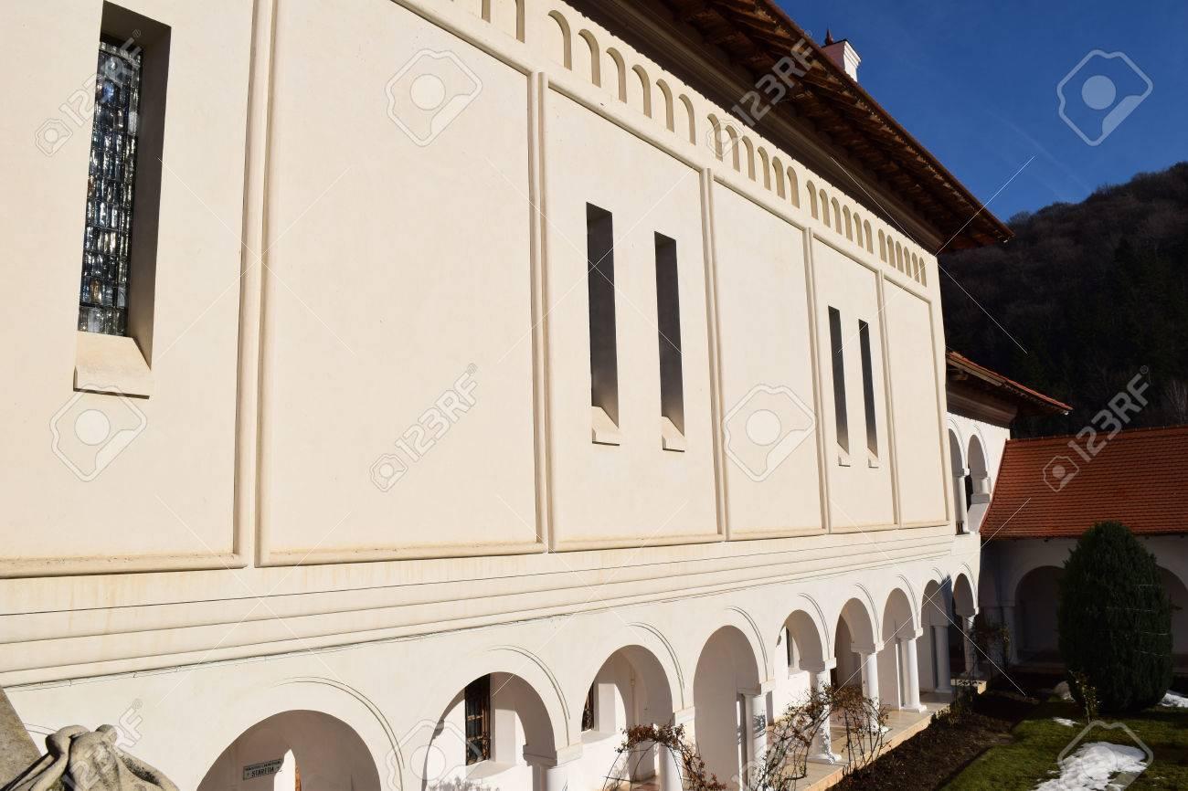 Building in Sambata de Sus monastery complex in Romania. Stock Photo - 52515837