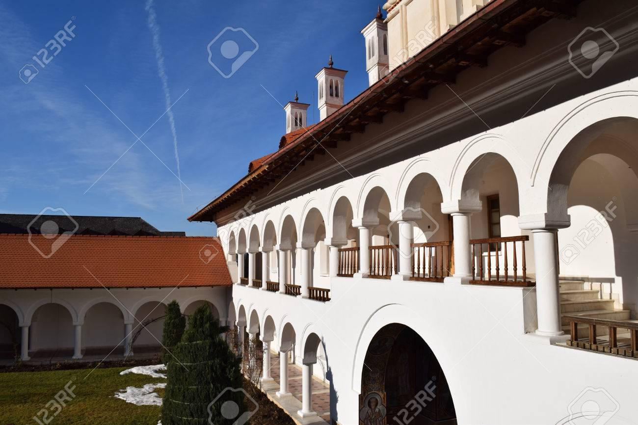 Building in Sambata de Sus monastery complex in Romania. Stock Photo - 52515838