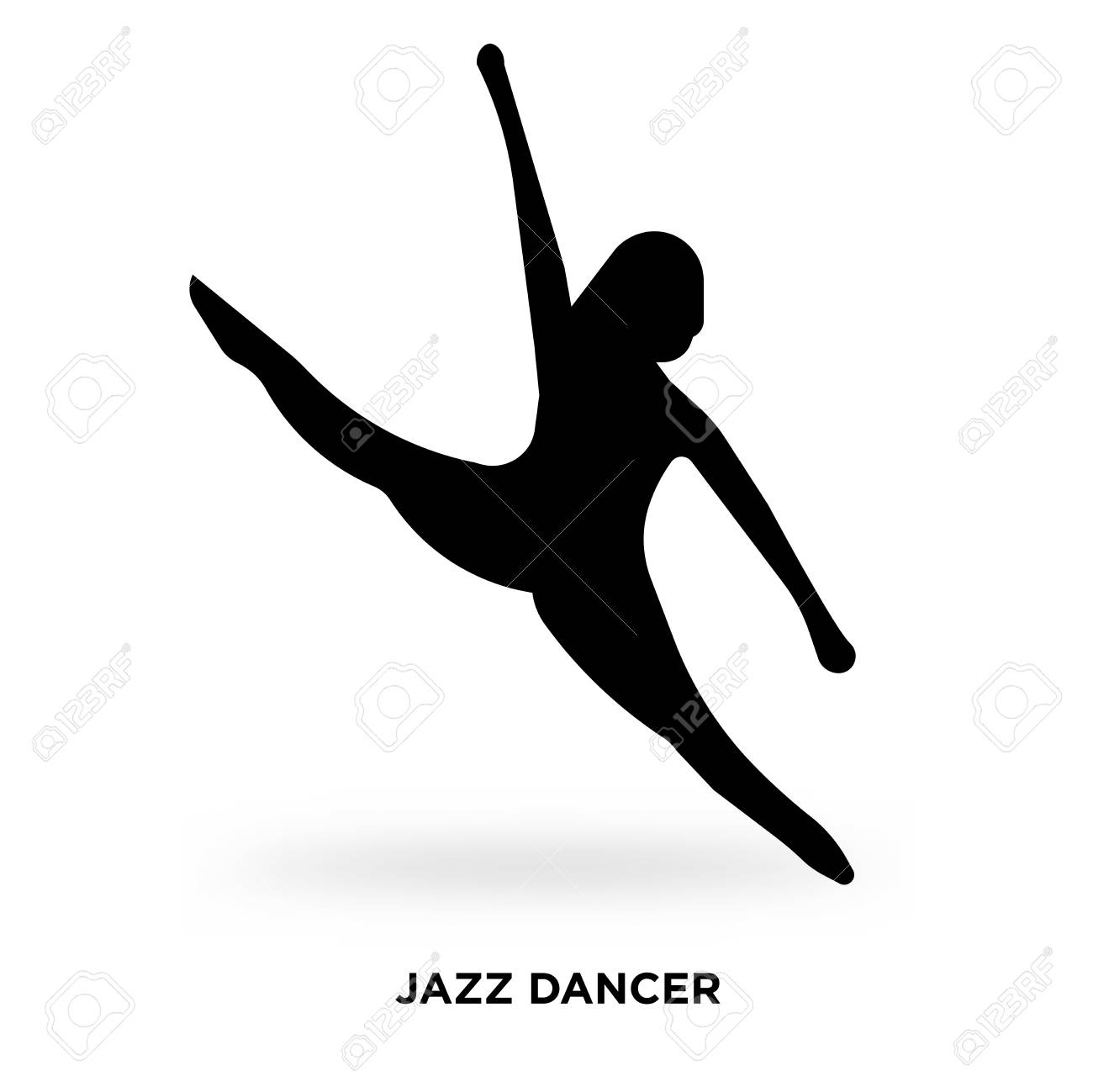 Jazz Dancer Silhouette Vector Illustration Royalty Free Cliparts Vectors And Stock Illustration Image 96221605