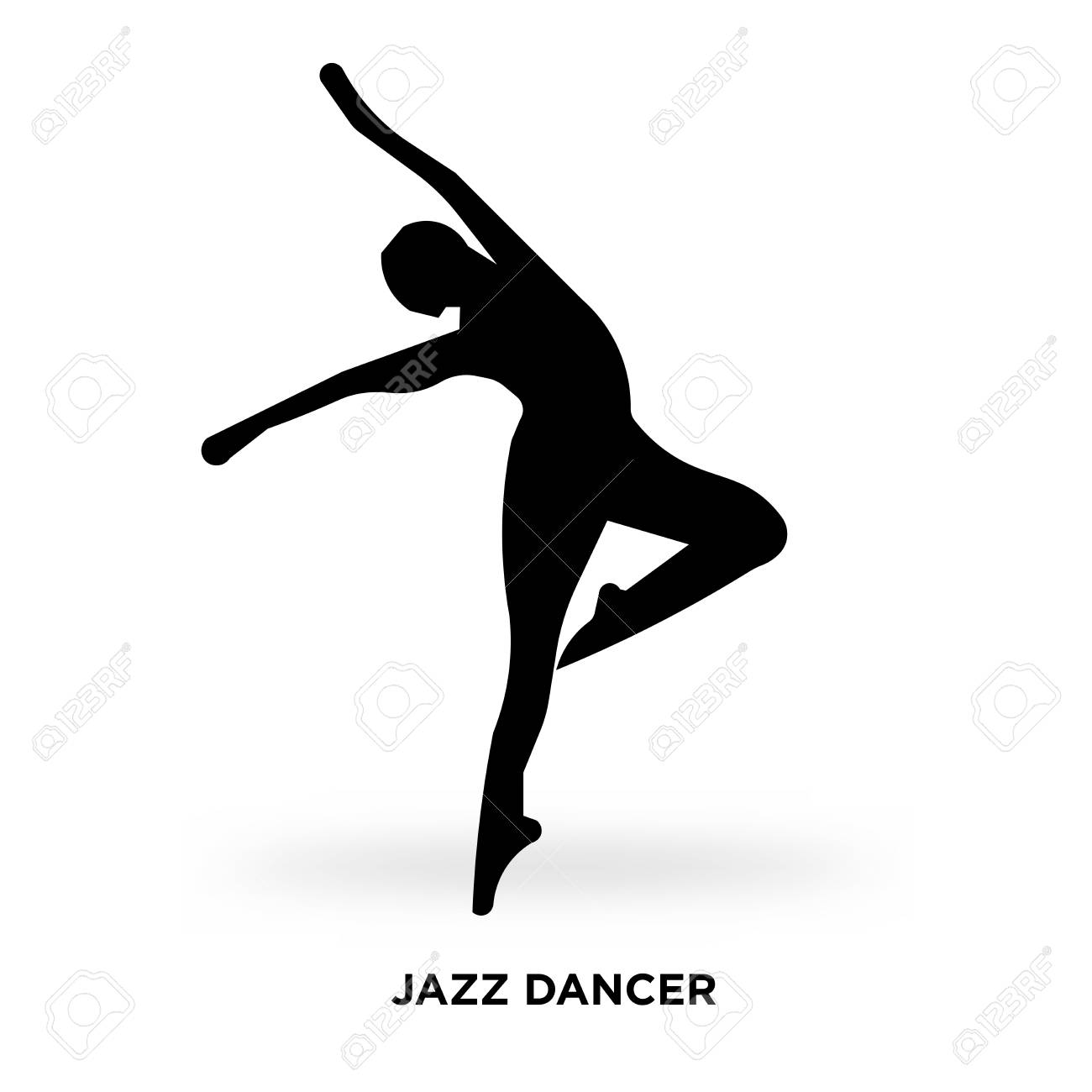 Jazz Dancer Silhouette Vector Illustration Royalty Free Cliparts Vectors And Stock Illustration Image 96222027