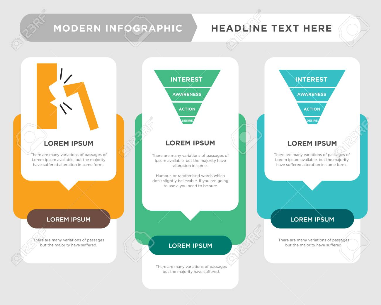 marketing funnel on white background in black business infographic