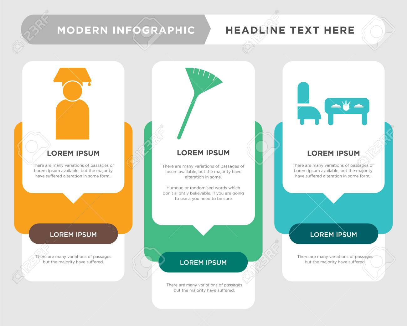 Teacher Desk Business Infographic Template The Concept Is Option