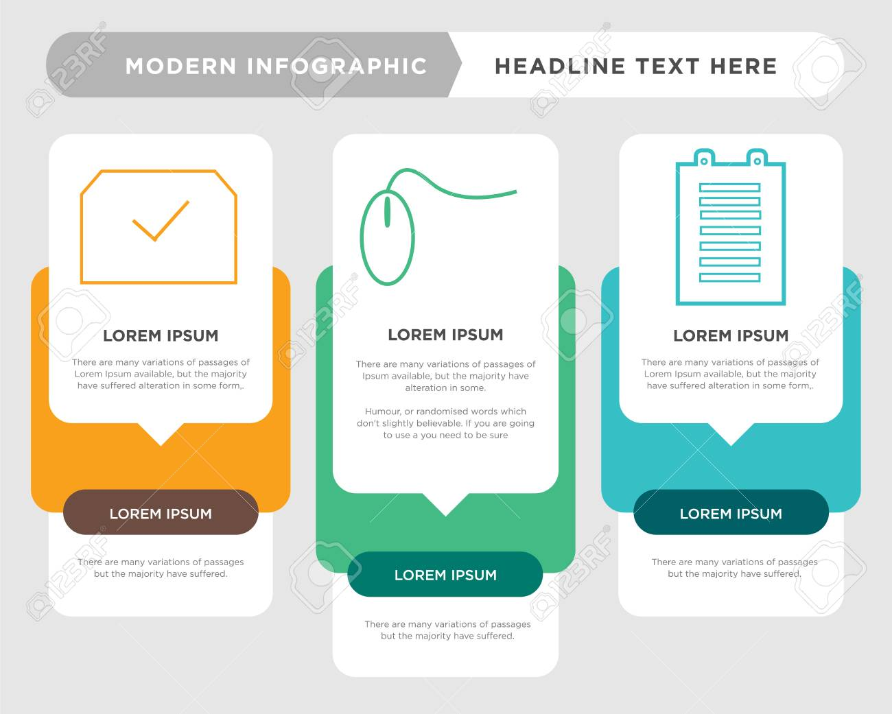 list plan business infographic template, the concept is option