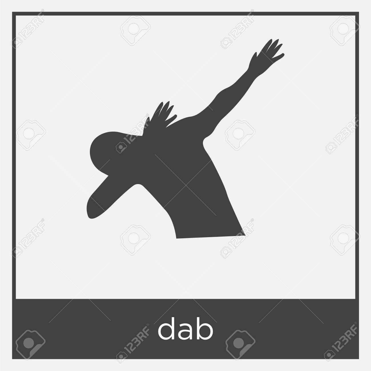 dab icon isolated on white background with black border royalty free