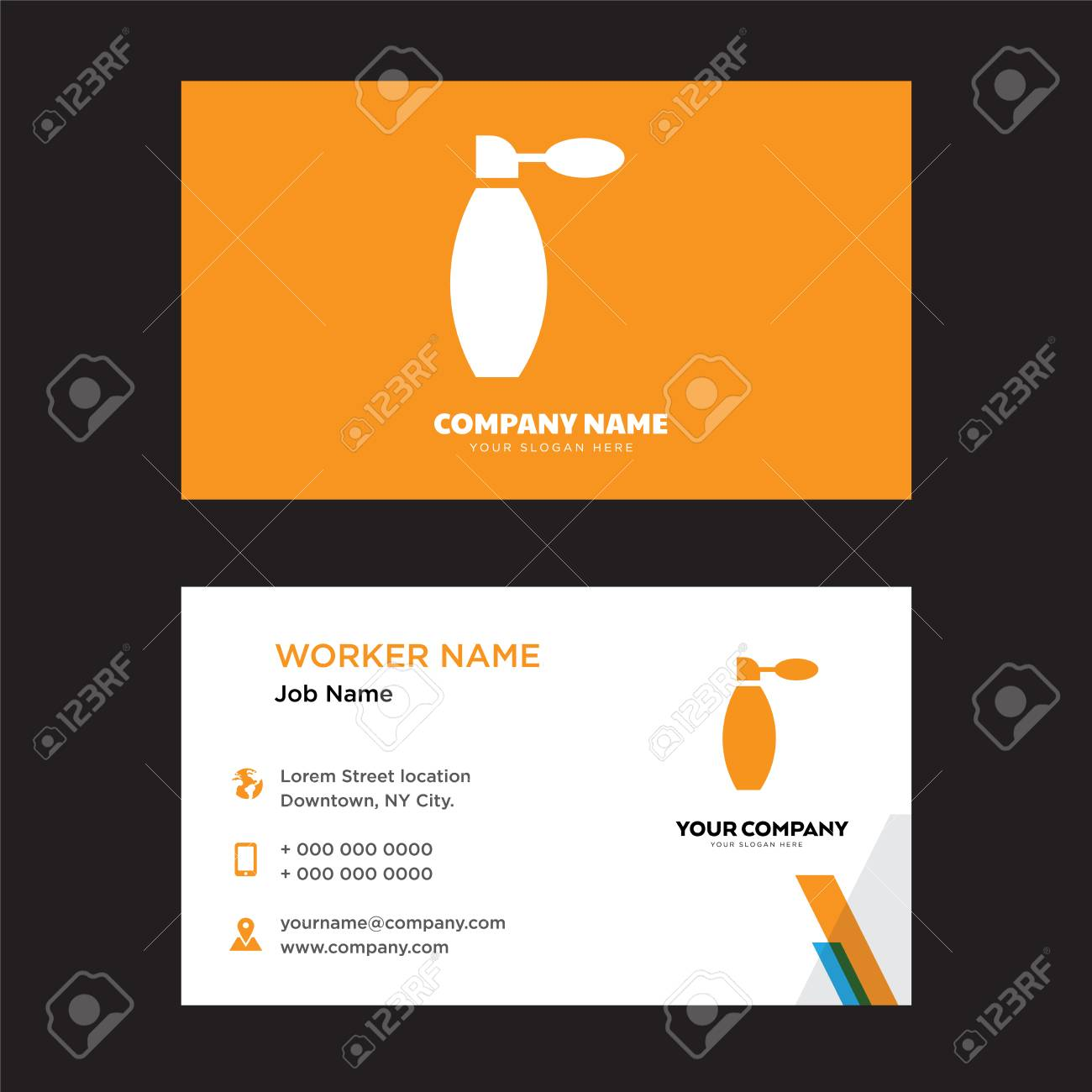 Perfume Business Card Design Template, Visiting For Your Company ...