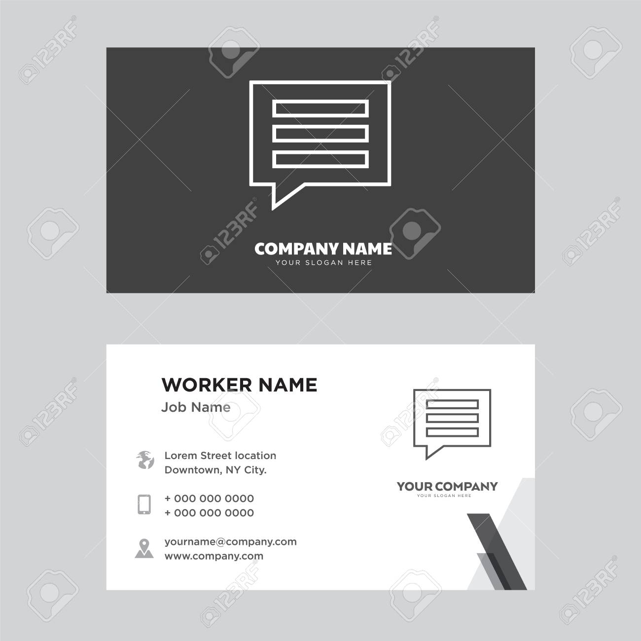 Comment business card design template visiting for your company comment business card design template visiting for your company modern creative and clean identity friedricerecipe Image collections