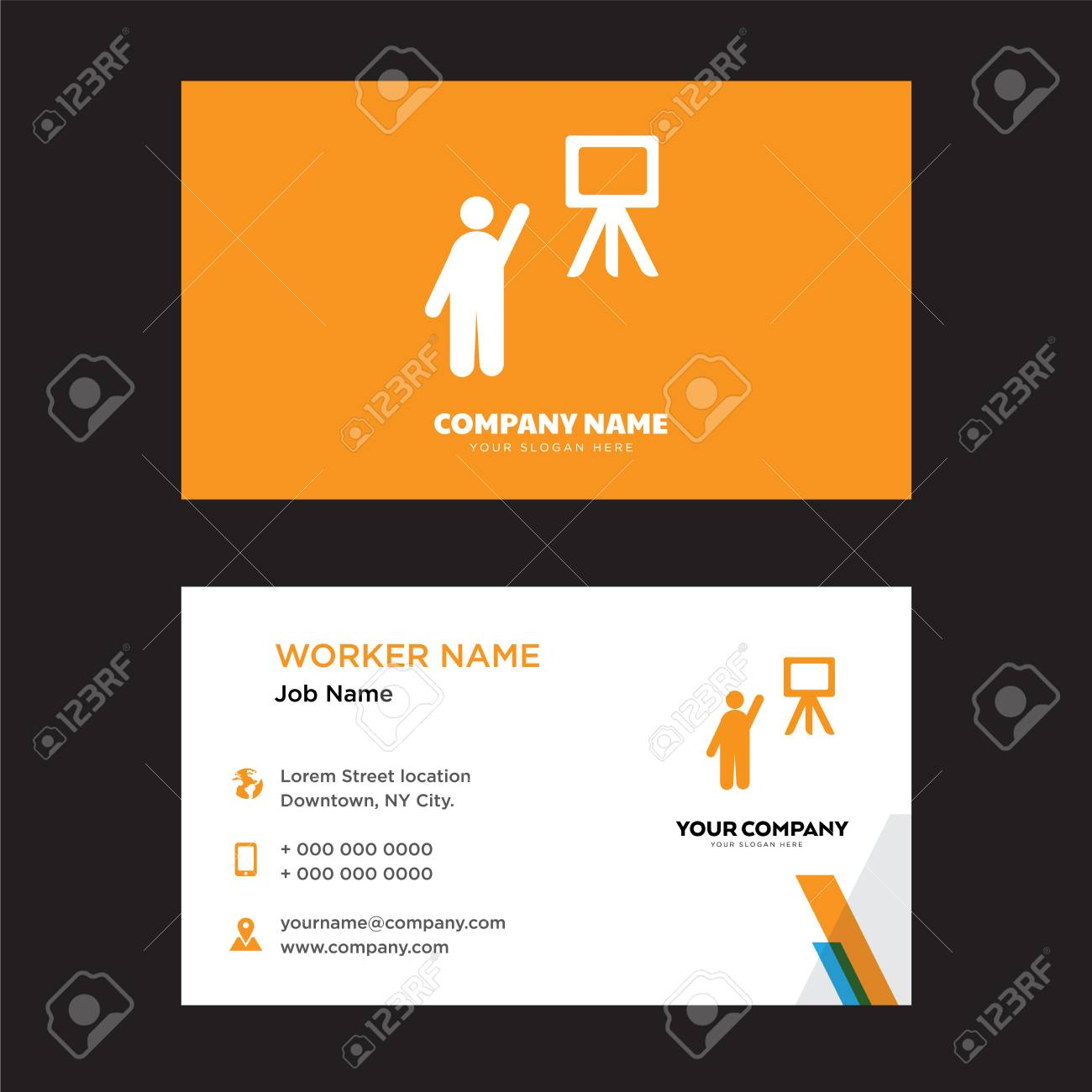 Teacher Business Card Design Template, Visiting For Your Company ...