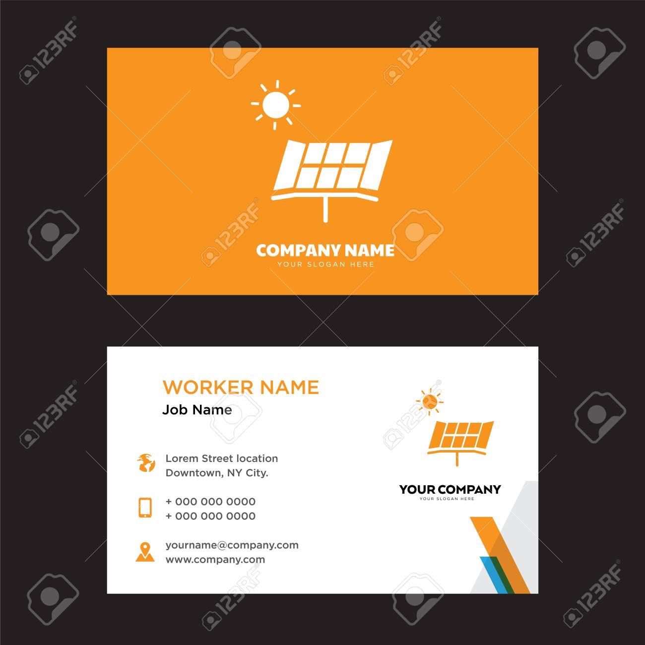 Solar battery business card design template visiting for your solar battery business card design template visiting for your company modern horizontal identity card colourmoves