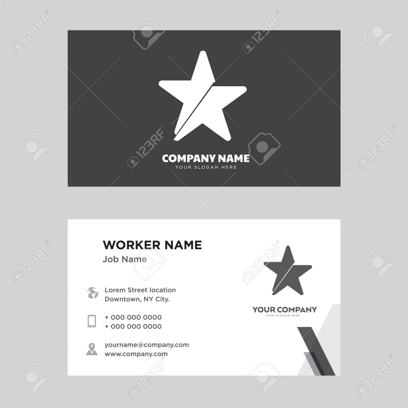 Star business card design template visiting for your company star business card design template visiting for your company modern horizontal identity card vector reheart Images