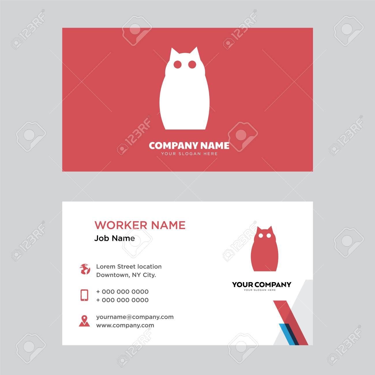 Owl business card design template visiting for your company owl business card design template visiting for your company modern horizontal identity card vector colourmoves
