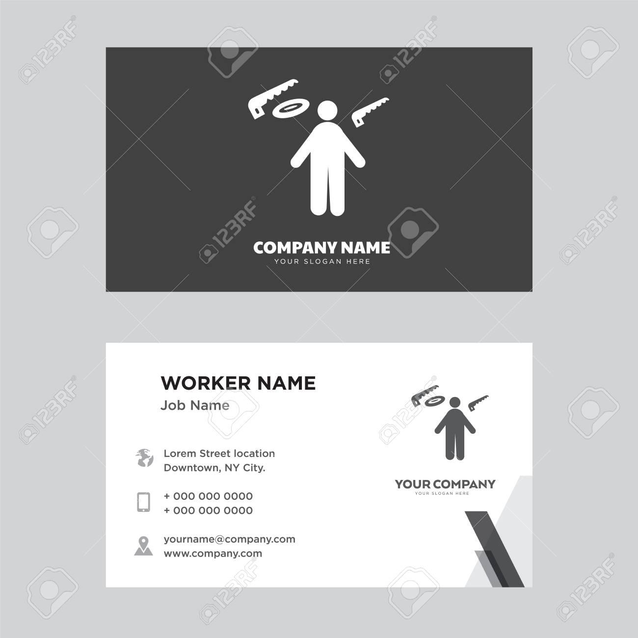 Carpenter business card design template visiting for your company carpenter business card design template visiting for your company modern horizontal identity card vector fbccfo Choice Image