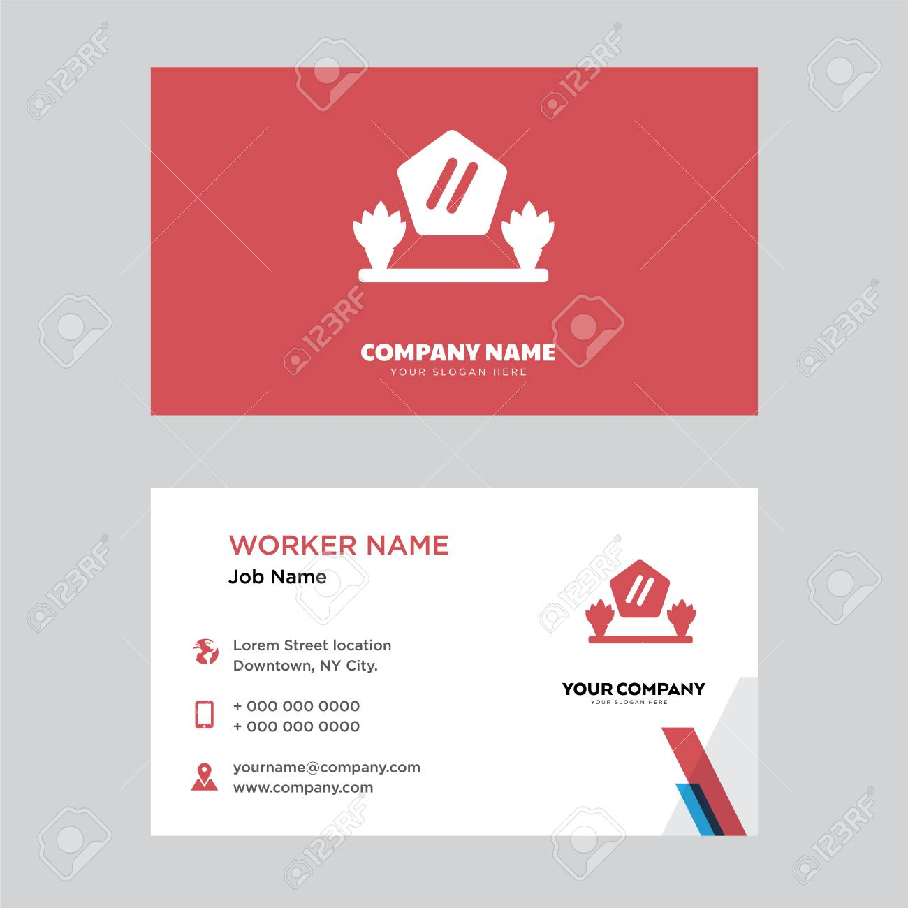 Mirror Business Card Design Template Visiting For Your Company