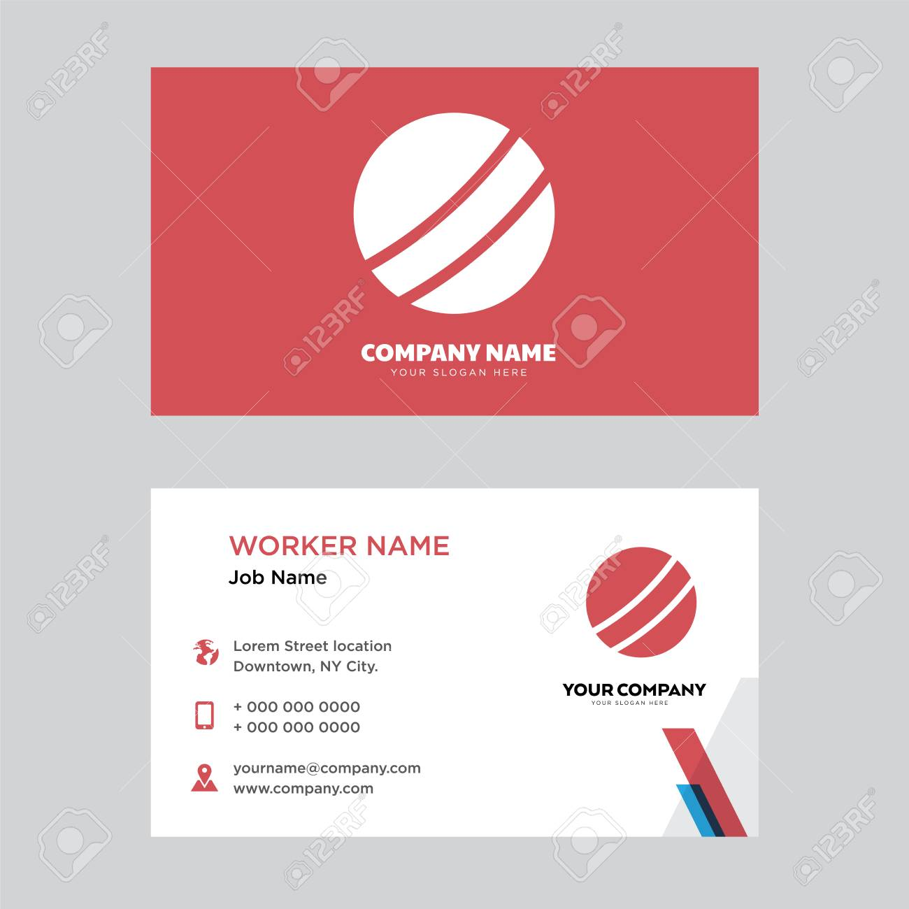 Basketball Business Card Design Template, Visiting For Your Company ...