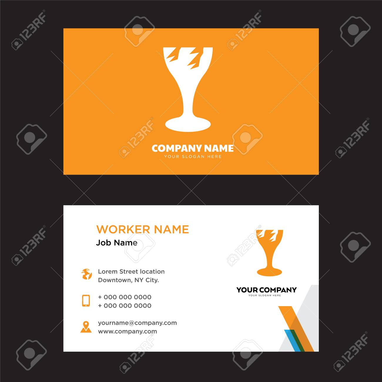 Broken glass business card design template visiting for your broken glass business card design template visiting for your company modern horizontal identity card cheaphphosting Image collections