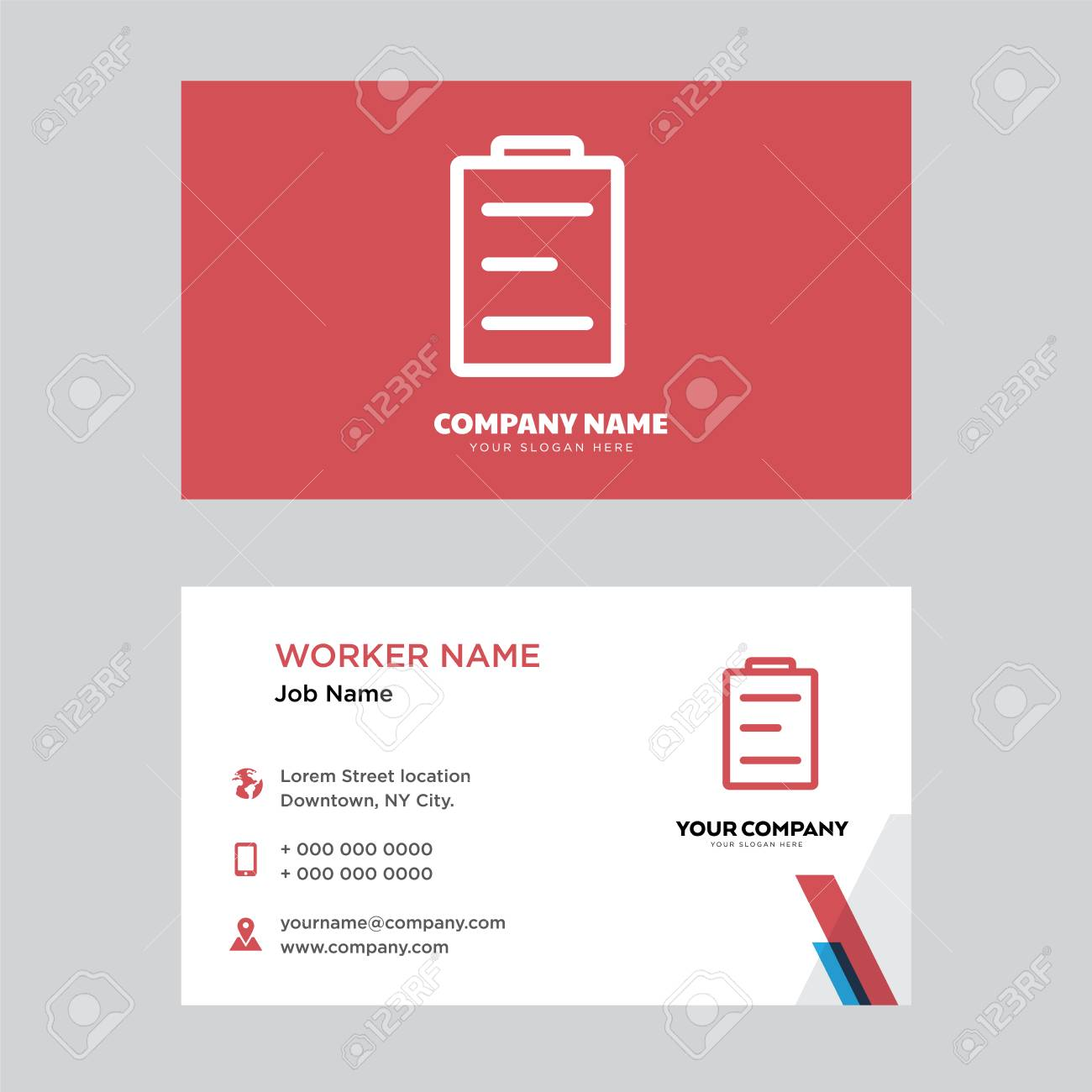 Calendar Business Card Design Template Visiting For Your Company