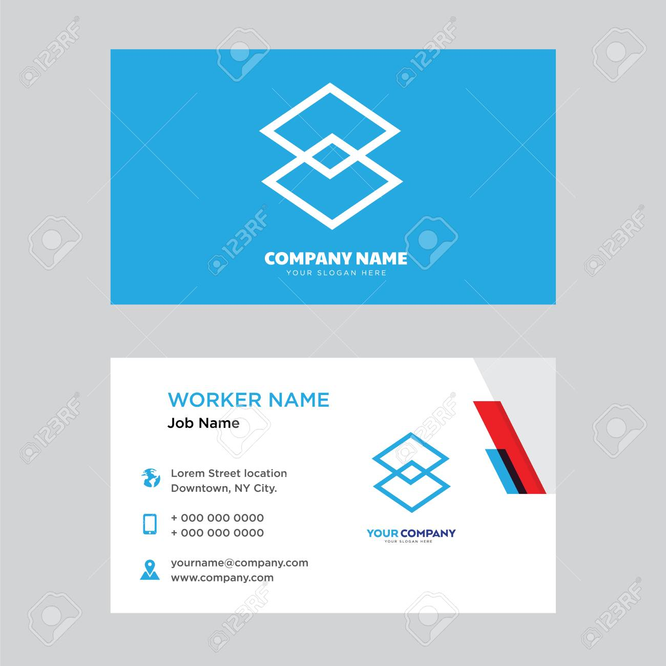 Dimensions business card design template modern horizontal identity dimensions business card design template modern horizontal identity card vector stock vector 100907503 reheart Choice Image