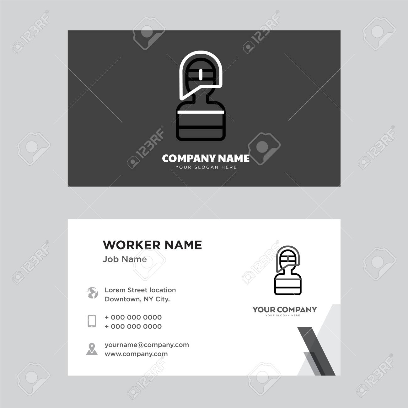 Firefighter Business Card Design Template Visiting For Your