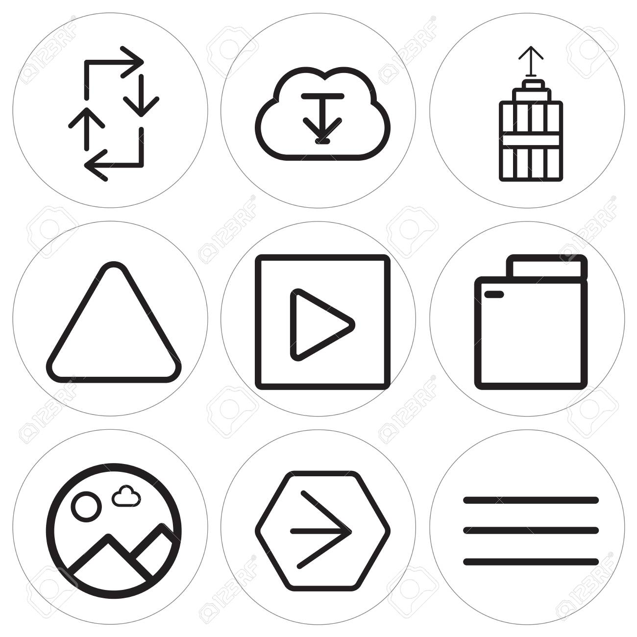 Set Of 9 simple editable icons such as Menu, Youtube, Picture,