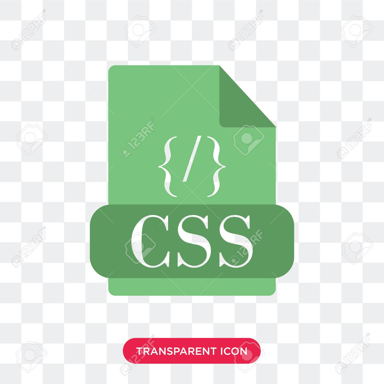 Css Vector Icon Isolated On Transparent Background Css Logo Royalty Free Cliparts Vectors And Stock Illustration Image 107020177