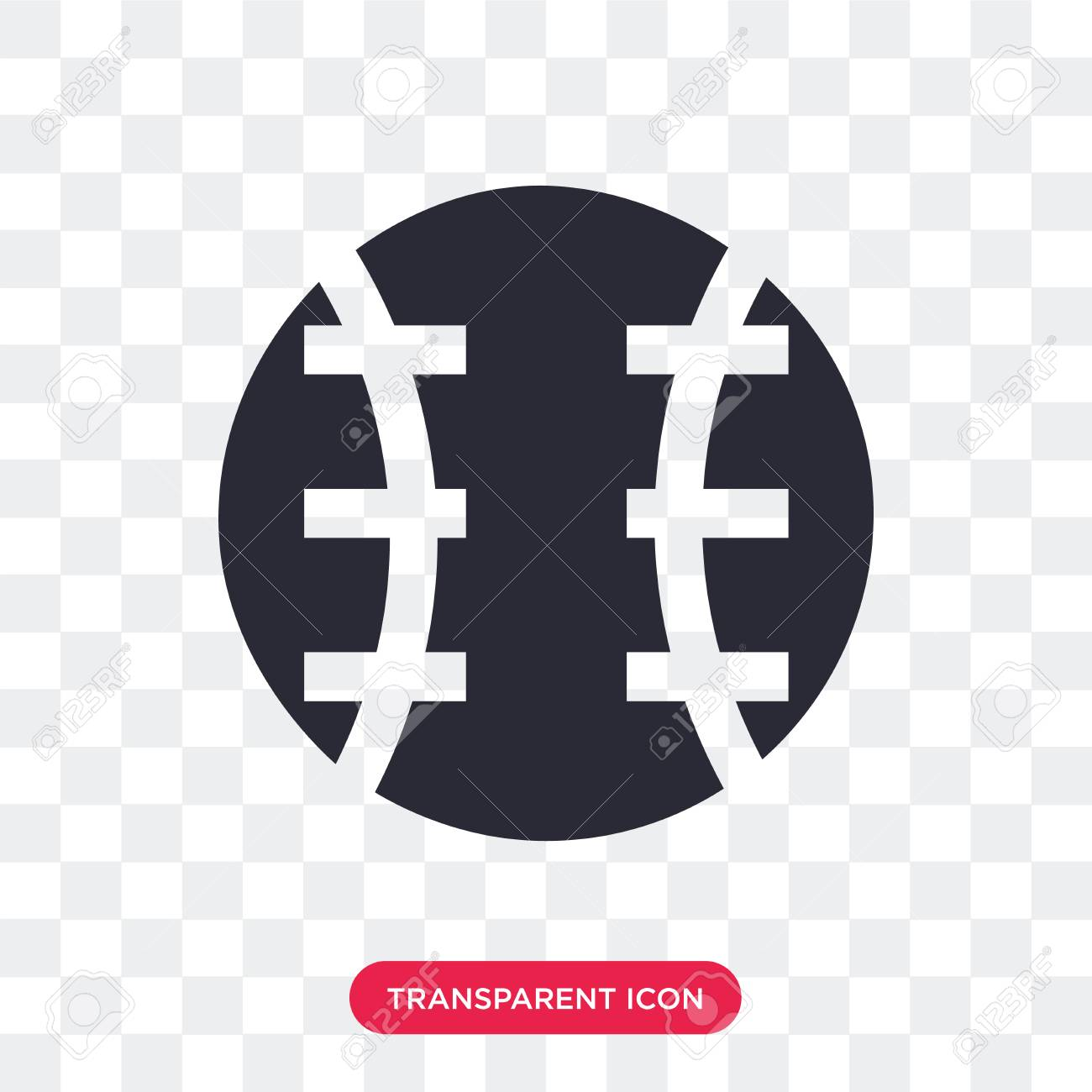 baseball ball vector icon isolated on transparent background