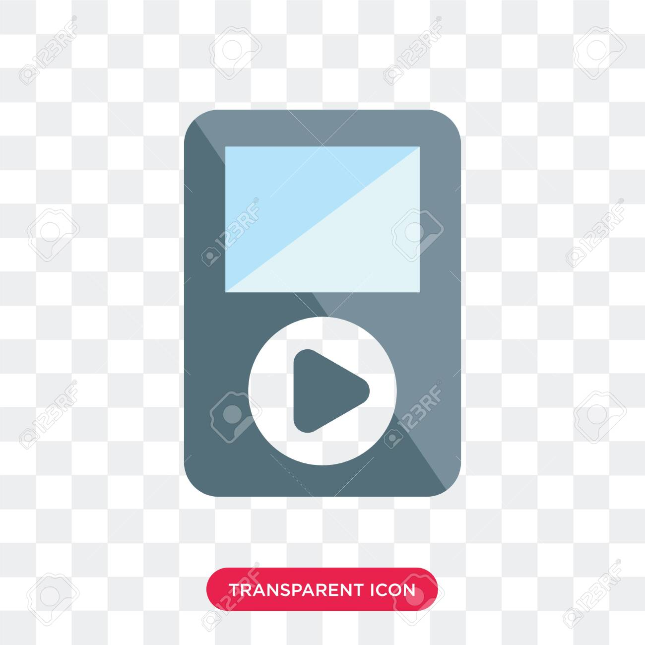 music player vector icon isolated on transparent background - 130332440