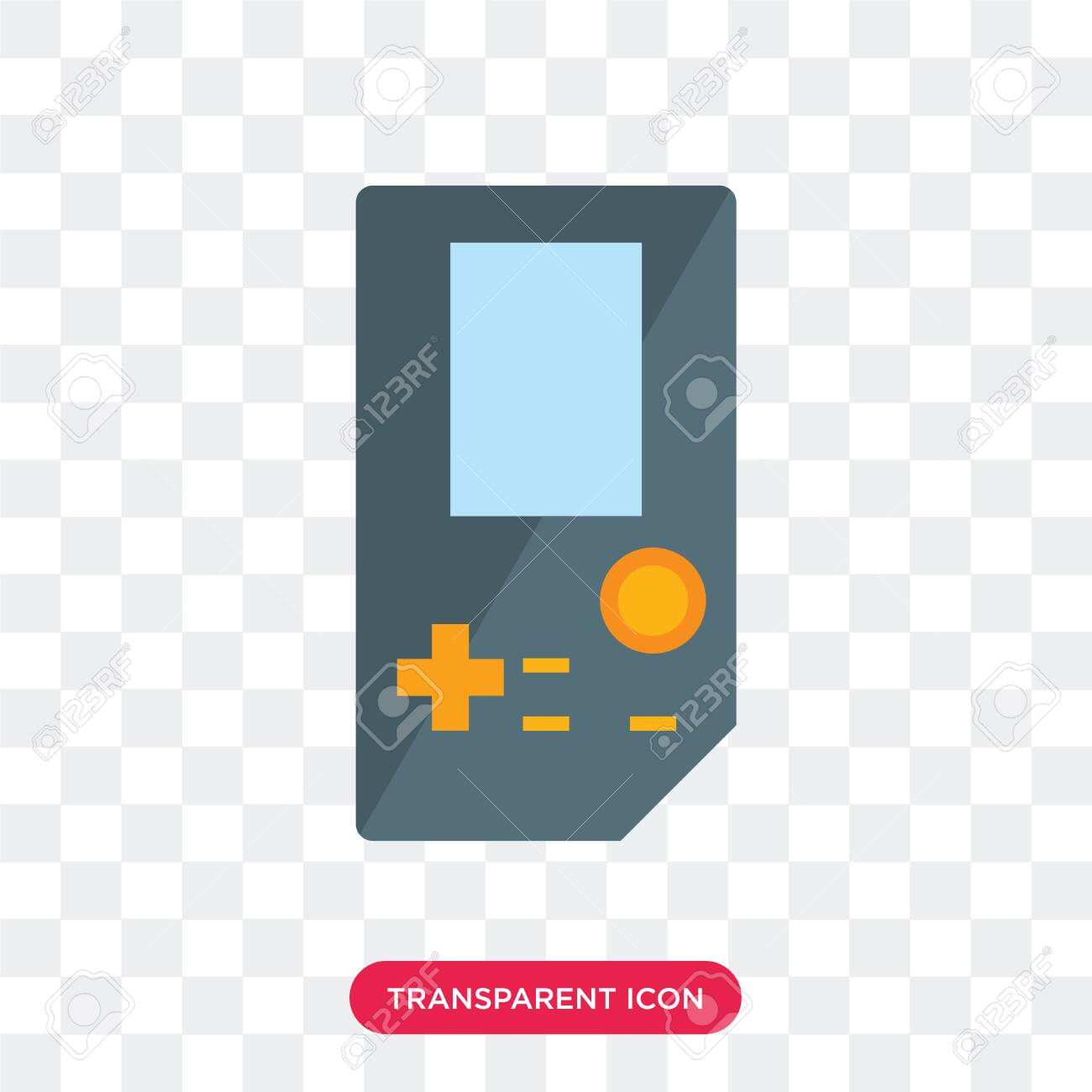 game vector icon isolated on transparent background - 130332475