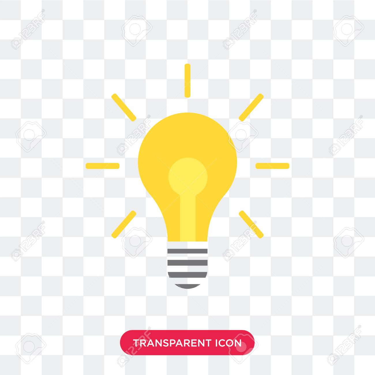 Light bulb vector icon isolated on transparent background, Light bulb logo concept - 114400813