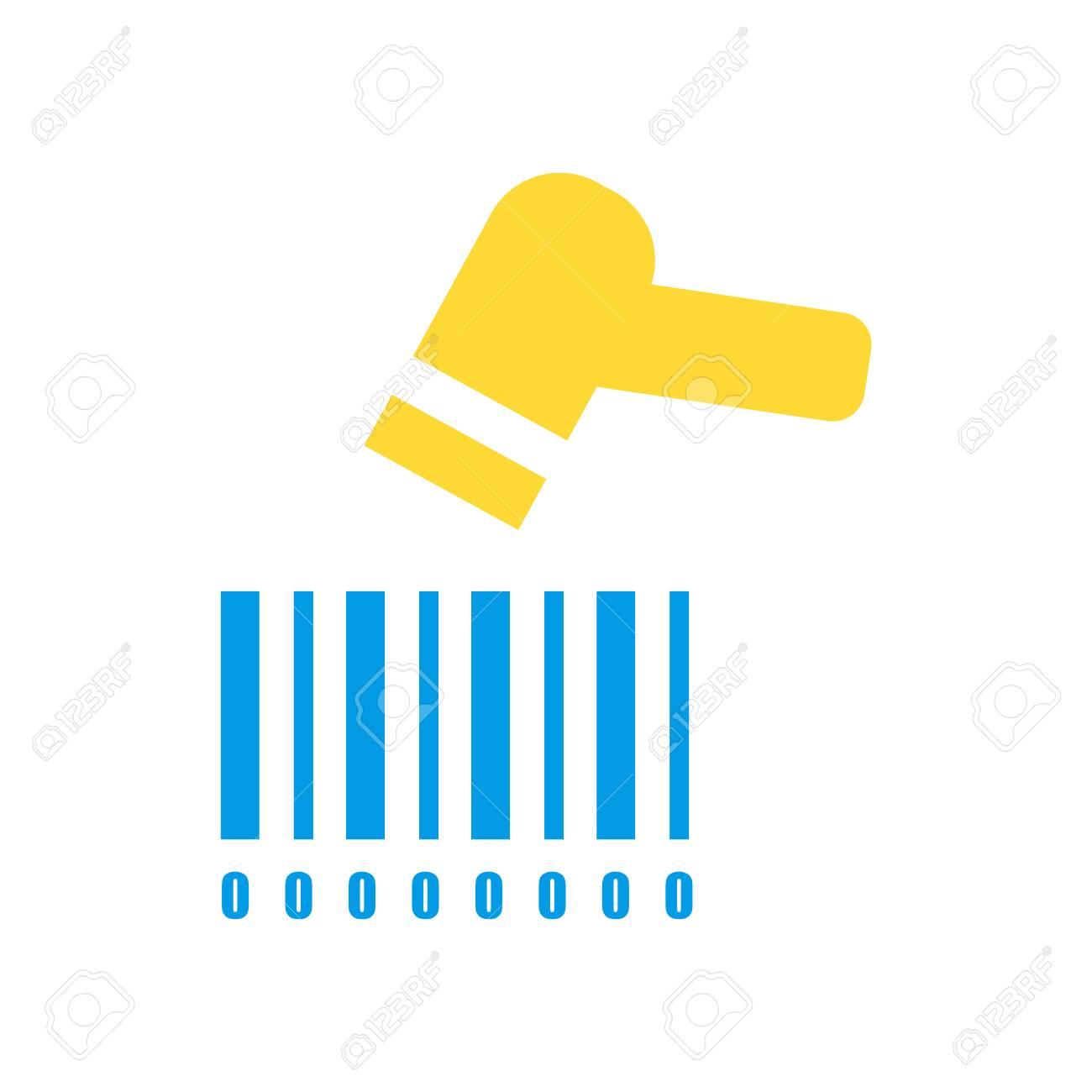 Barcode scanner icon vector isolated on white background for
