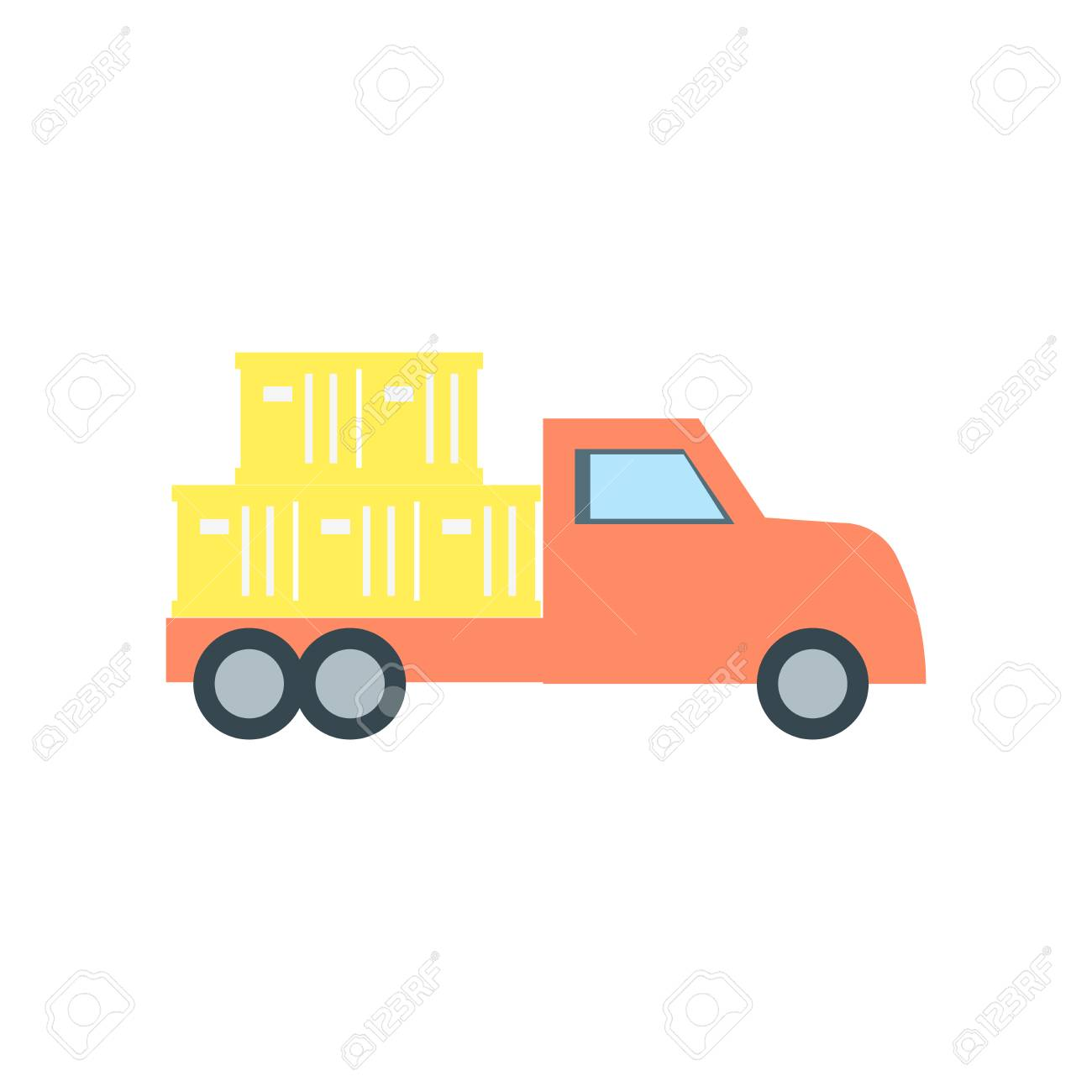 Delivery Truck Icon Vector Isolated On White Background For Your