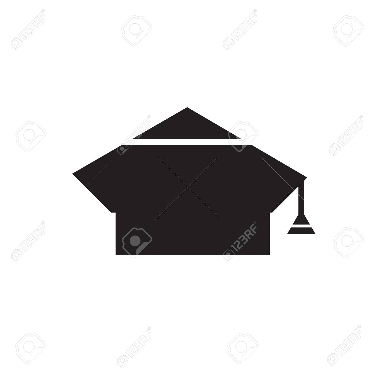 57667d54cd8 Graduation Cap icon vector isolated on white background for your web and  mobile app design