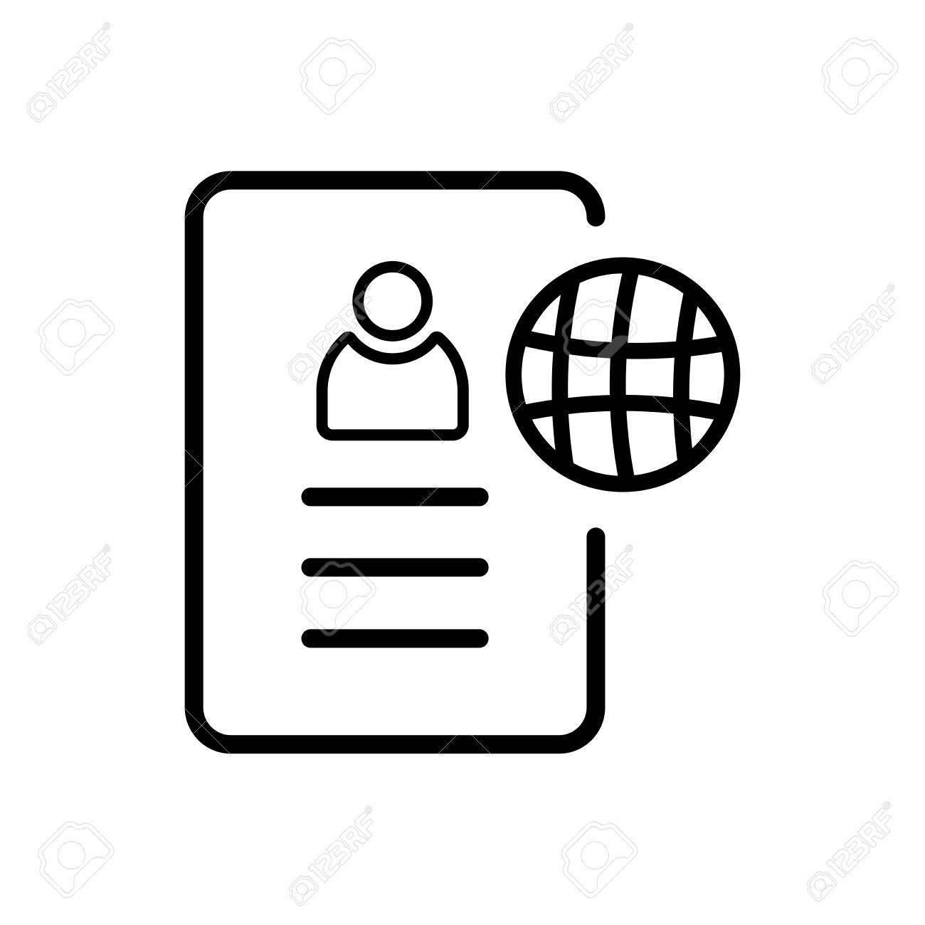Resume Icon Isolated On White Background For Your Web And Mobile ...