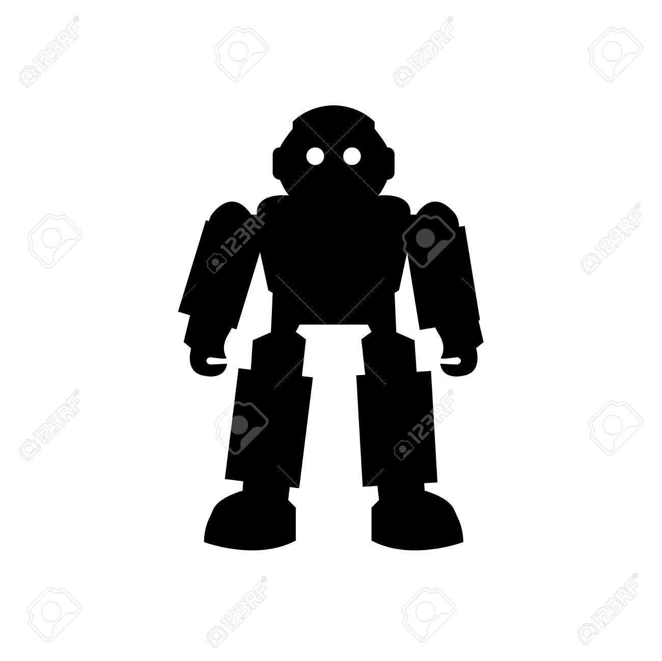 Robot of Japan icon vector isolated on white background for your