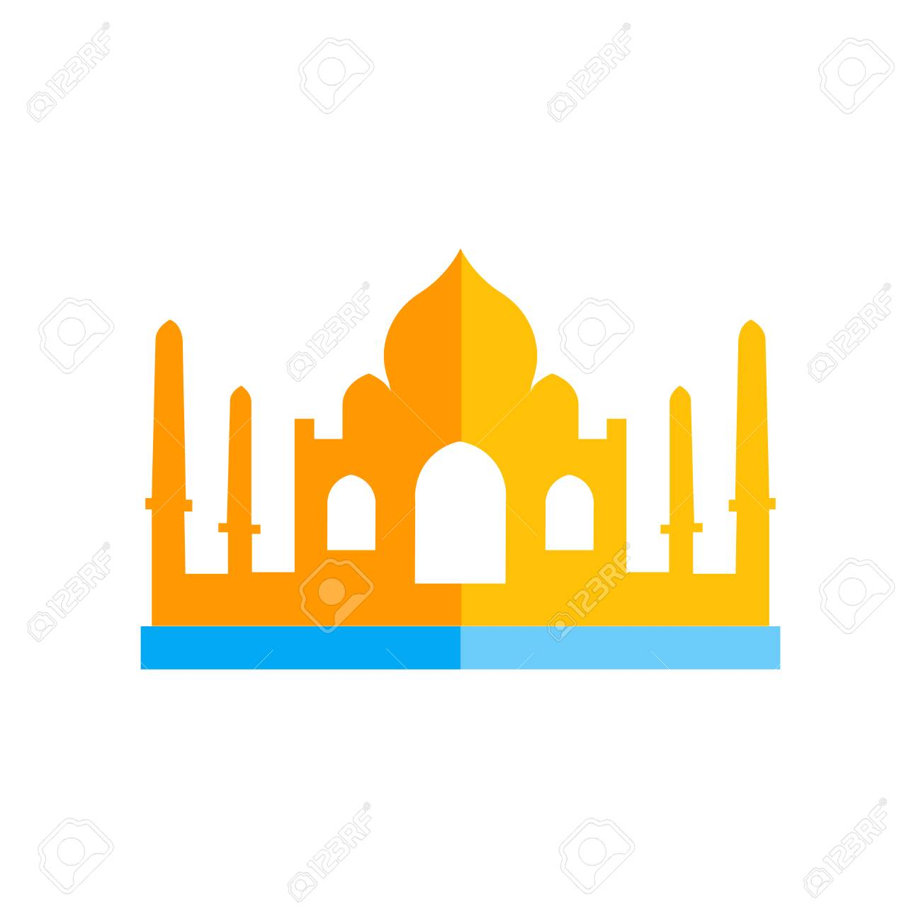 Taj mahal icon vector isolated on white background for your web and mobile app design, Taj mahal logo concept - 107024850