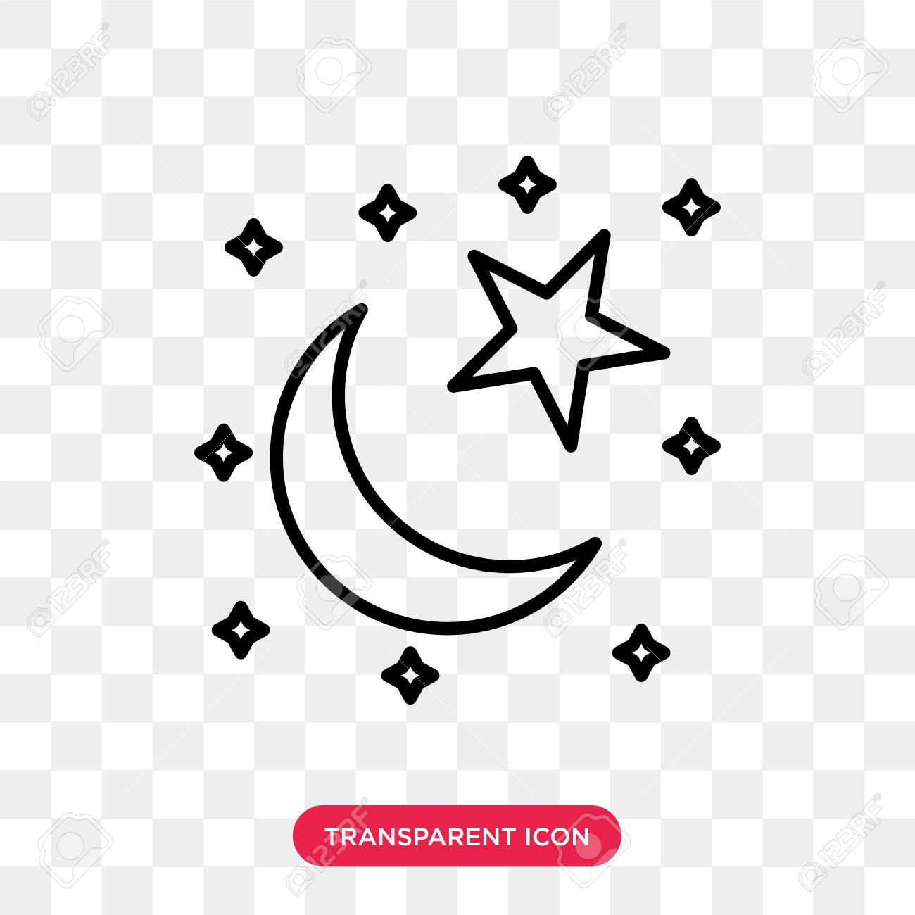 star and crescent moon vector icon isolated on transparent background royalty free cliparts vectors and stock illustration image 107374444 star and crescent moon vector icon isolated on transparent background
