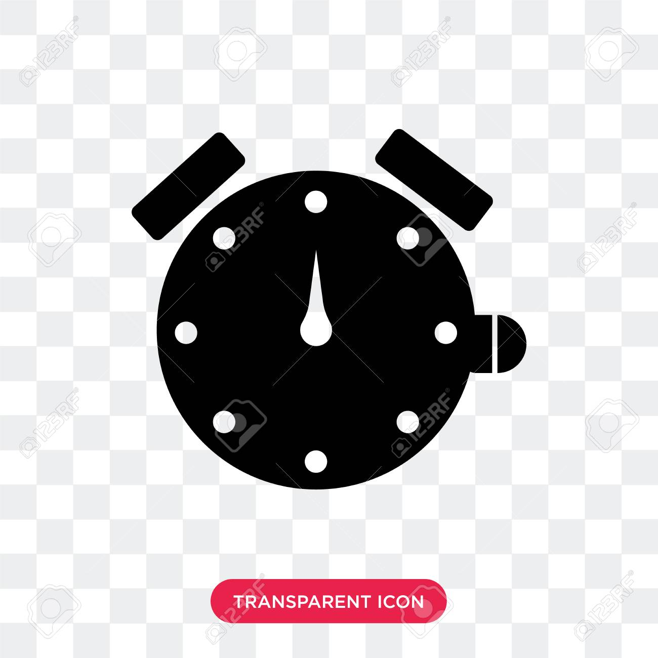 Stopwatch vector icon isolated on transparent background, Stopwatch