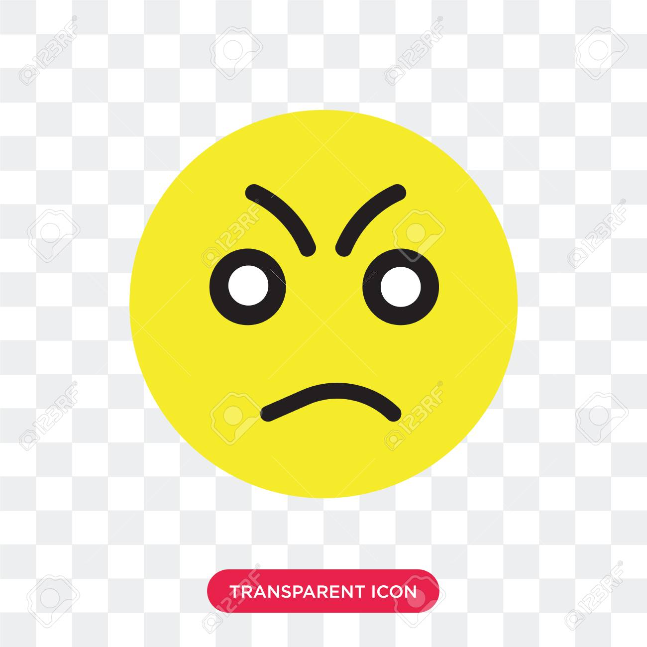 Angry Vector Icon Isolated On Transparent Background Angry Logo