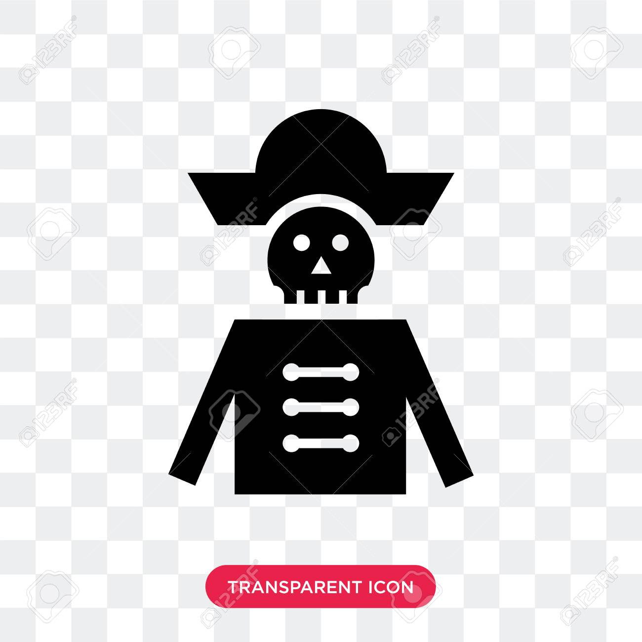 Pirate Vector Icon Isolated On Transparent Background Pirate
