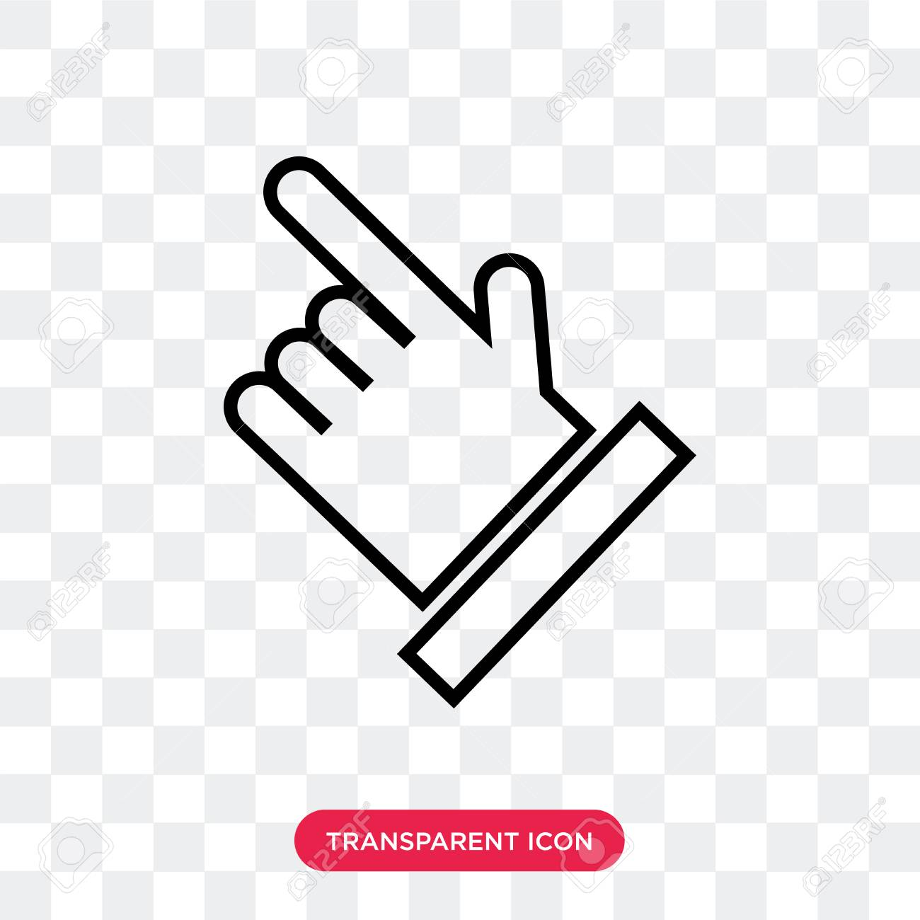 hand with extended pointing finger vector icon isolated on transparent royalty free cliparts vectors and stock illustration image 107765962 hand with extended pointing finger vector icon isolated on transparent