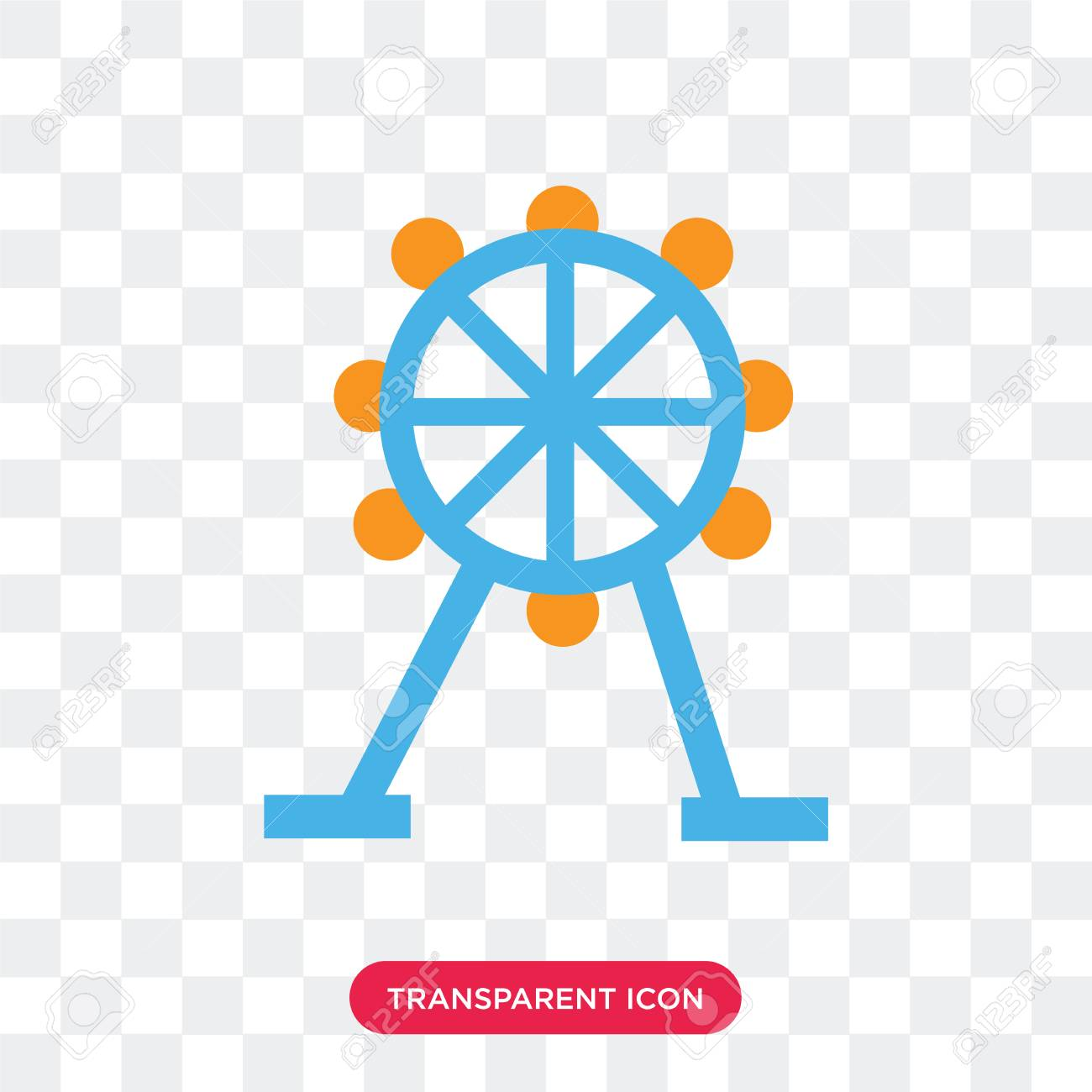 Amusement Park Vector Icon Isolated On Transparent Background Royalty Free Cliparts Vectors And Stock Illustration Image 107766223