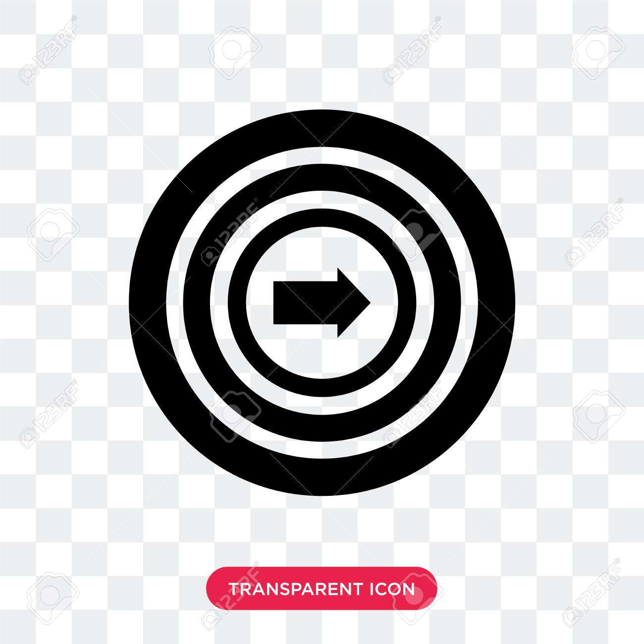 Target Vector Icon Isolated On Transparent Background Target