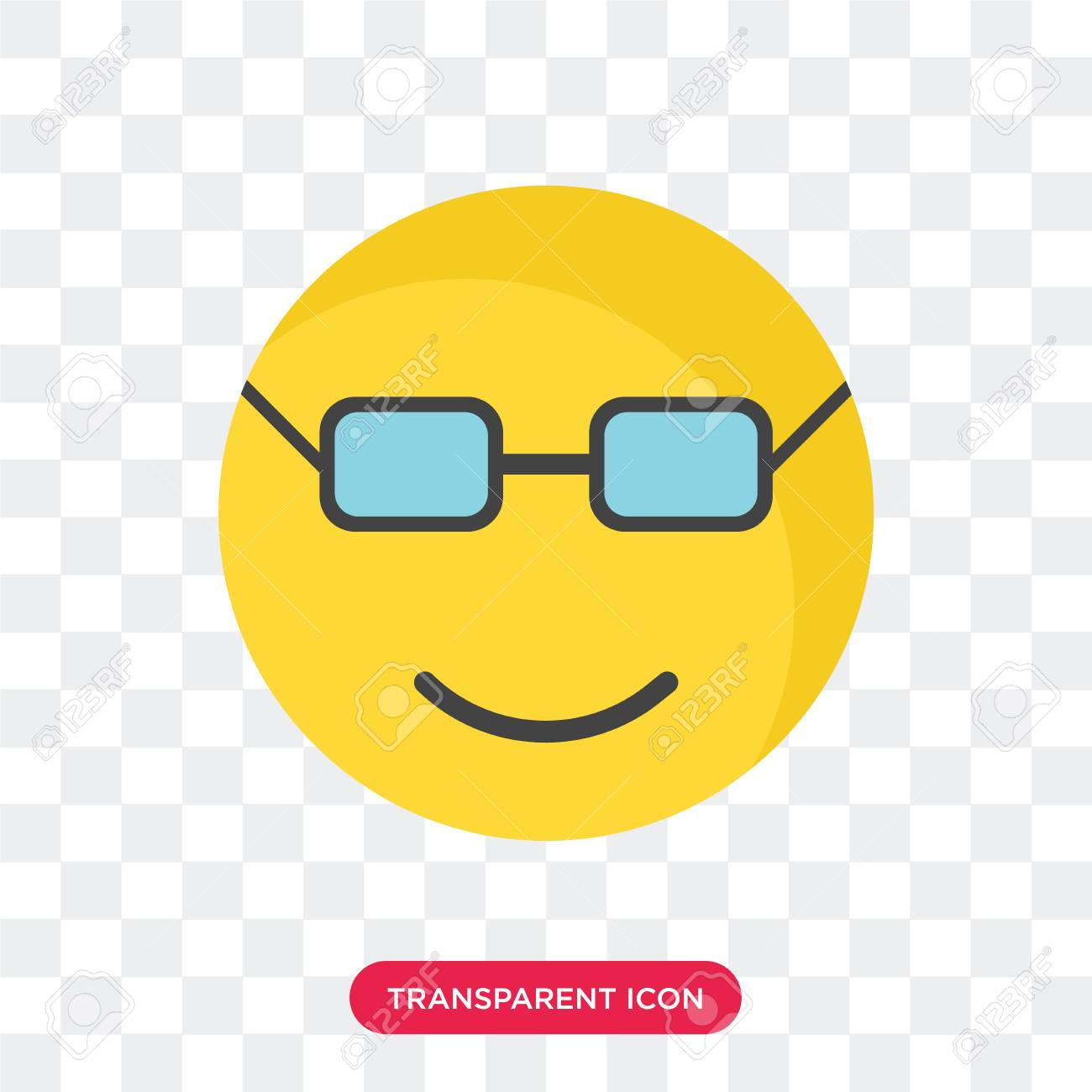ac2f7b694af Nerd smile vector icon isolated on transparent background nerd smile logo  concept stock vector jpg 1300x1300