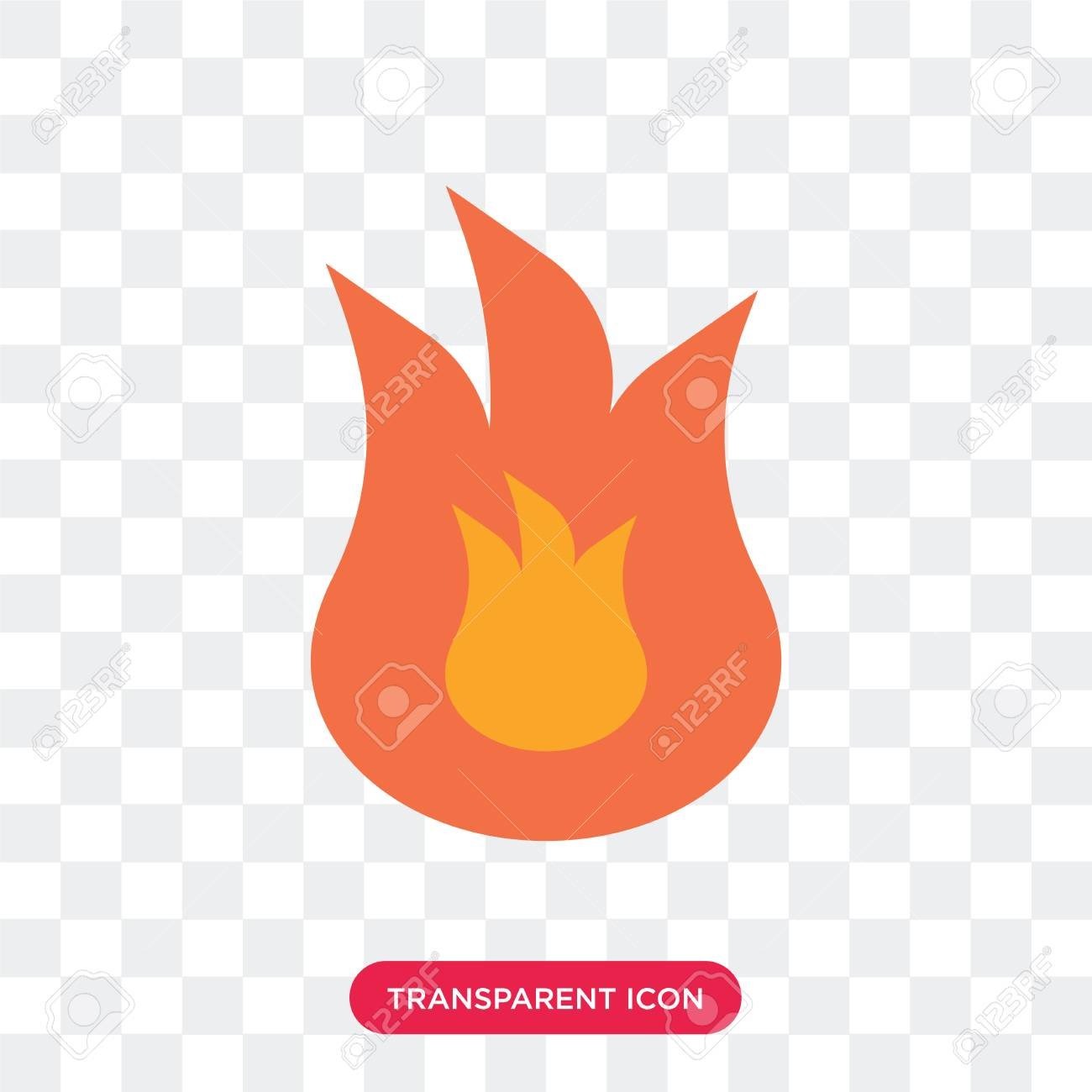 Fire vector icon isolated on transparent background, Fire logo