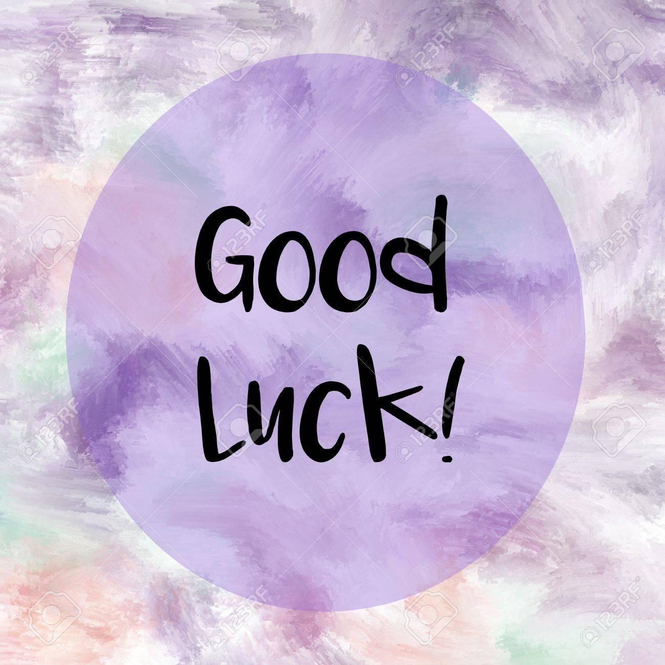 Bonne Chance Message écrit Sur Fond Peint Violet