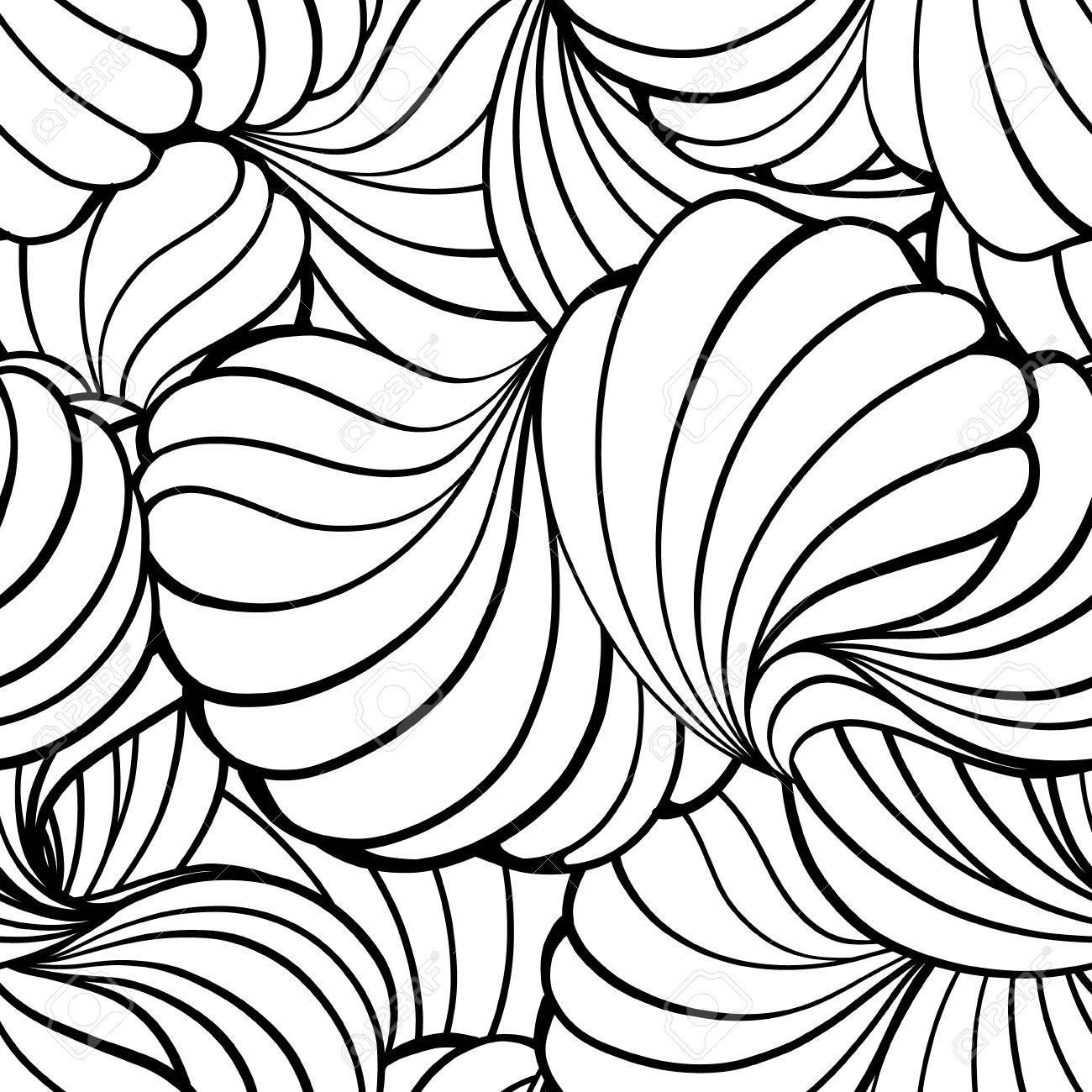 Vector Estilizados Elementos Shell Sin Patrón. Formas Gráficas ...