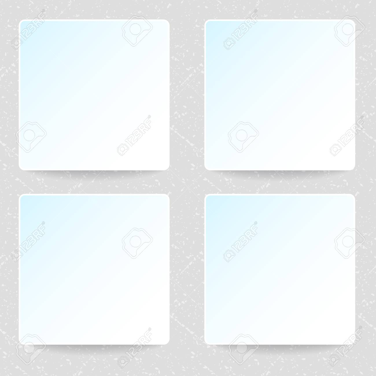 Set Of Greeting Cards Templates Vector Empty Mock Ups Stock Photo